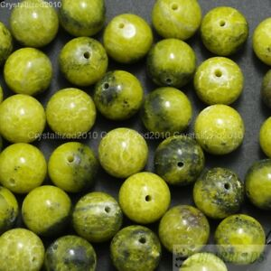Natural Yellow Turquoise Gemstone Round Beads 2mm 4mm 6mm 8mm 10mm 12mm 16''