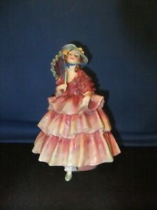 ROYAL DOULTON RARE  COLOURWAY  FIGURINE THE HINGED PARASOL