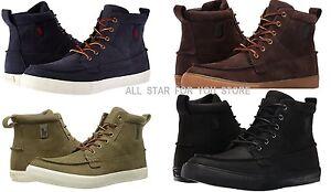 Polo Ralph Lauren Sneaker Tavis-Sk-Vlc Fashion High Top leather Sneaker Boots