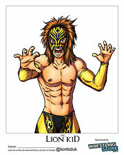 Official Dragon Gate - Lion Kid Manga 2014 Hand Signed 8x10 picture