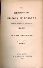 1875 2 Vol Constitutional History England Great Britain United Kingdom Widdleton