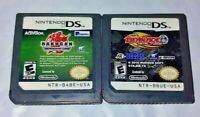 Bakugan Defenders + BeyBlade Fusion - Nintendo DS Lite 2ds 3ds Game Lot Tested