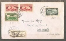 REGISTERED LETTER SYRIE DAMAS TO FRANCE 1938 BY AIRMAIL