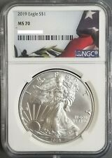 2019 American Silver Eagle, NGC MS70