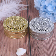 Creative plastic round candy box wedding vintage chocolate gift treat boxeI_es