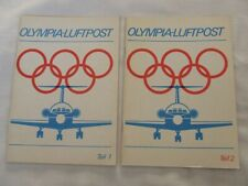 Catalogue Of Olympic Air Stamp Covers Vol 1 & 2 by G Sauer, 1982 Vgc