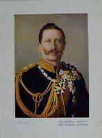 1901 Stampa & Biografia il Suo Imperial majesty The Tedesco Imperatore William