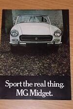 "MG Midget Sales Brochure ""Sport The Real Thing"""