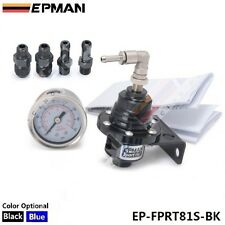 Epman Racing Turbo Bypass, Negro Ajustable combustible regulador de presión de líquido de calibre