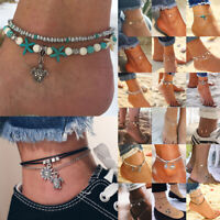 Fashion Ankle Bracelet Women Gold Silver Anklet Foot Jewelry Chain Beach