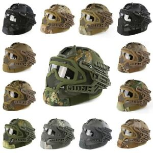 Full Covered Tactical Helmet Military Outdoor CS Sports Protective Camo Helmet