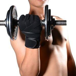 Men Fitness Gloves Single Bar Dumbbell Gym Training Protective Gloves Anti-slip