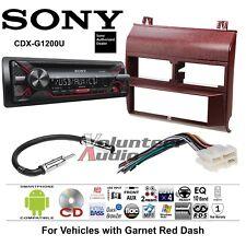 Sony Car Radio Stereo CD Player Dash Install Mounting Kit Harness Antenna