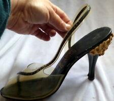 Vintage 1950s Unusual Peep Toe Woman's Shoes Size 5 1/2