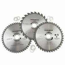3pc 205mm TCT Circular Saw Blades 20/40/48 TPI & Adapter Rings Reducer TE861
