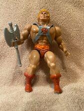 1981 Vintage He-Man Masters of the Universe MOTU Taiwan Soft Head w/ Armor & Ax