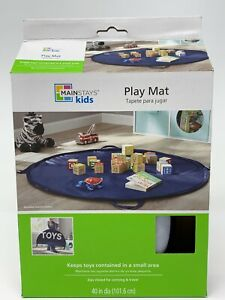 Mainstays Kids Portable Toy Carrier And Play May Navy Blue