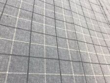Grey check crafts remnant fabric sewing material piece 160x50cm