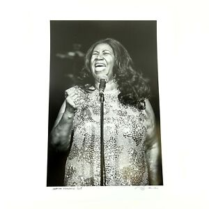 Aretha Franklin 2015 Photo Print Signed & Dated by Photographer Jérôme Brunet