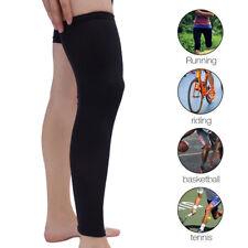 Compresión calcetines rodilla alto soporte medias pierna manga de muslo popular
