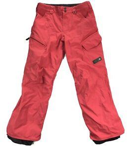 Burton Poacher Pants Womens Small Red Cargo Ski Snowboard Pants