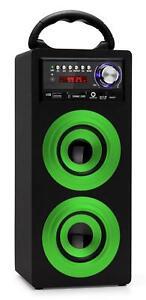 Enceinte Haut-Parleur Portable Bluetooth Stereo Systeme Mp3 USB FM AUX SD Vert