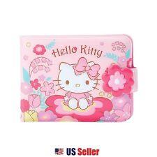 Sanrio Hello Kitty Vinyl Wallet Card Coin Case Pouch : Flower Field Kitty