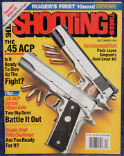 Magazine SHOOTING TIMES, December 1990 RUGER Blackhawk Convertible 10mm REVOLVER