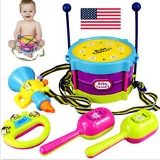 5PC Funny Kids Baby Roll Drum Musical Instruments Band Kit Children Toy Set