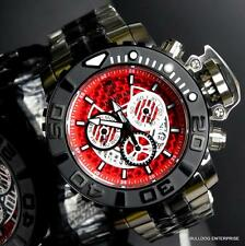 Invicta Sea Hunter II JT Jason Taylor Red Silver Tone 70mm Full Sized Watch New