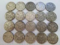 Lot of 20. Latvia 2 Lati Silver. 1925 and 1926