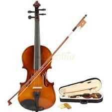 New Acoustic Violin Natural 1/8 with Case + Bow + Rosin kids Children 4-5 old