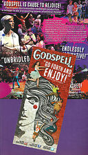 "Stephen Schwartz ""GODSPELL"" Hunter Parrish / Wallace Smith 2011 Broadway Flyer"
