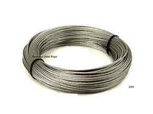 Best Quality Stainless Steel Wire Rope cable, (Plastic Coated ,10M)