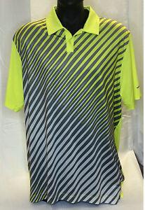 Men's Nike Golf Dri-Fit Tour Performance Polo Multicolored Striped Shirt Size XL
