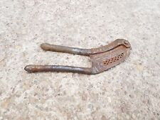 Old Early Iron Handmade Unique Grid Cut Betel Nut Cutter-Delicate Carving