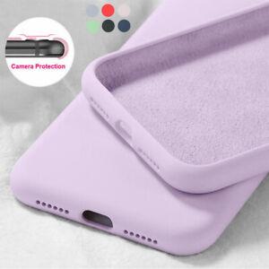 For Huawei P40 P30 Pro P20 Mate 30 20 Lite Liquid Silicone Plain Soft Case Cover