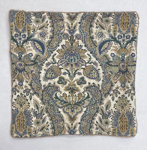 "NEW Pottery Barn Florentine Paisley Print 22 x 22"" Pillow Cover~Blue Multi"