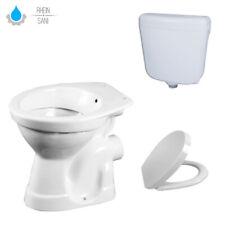 Estar de Pie Wc Taharet Bidet Baño Desagüe Pared Aquablue Con Cisterna Y Tapa De