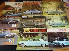 Original 1960 - 1972 Chevrolet Sales Brochure Lot of 75 Chevy 1967 1968 1969