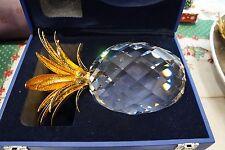 SWAROVSKI PINEAPPLE GOLD GIANT 010116 AUTHENTIC New