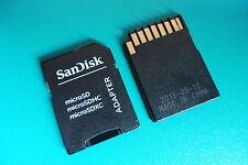 SanDisk Micro SD.-Adapter, für 64MB,128MB,256MB,512MB,1GB,2GB,4GB,8GB bis 128GB.