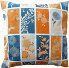 "Cushion Cover vintage orange panels Cotton Home Sofa pillow envelope back 18"""