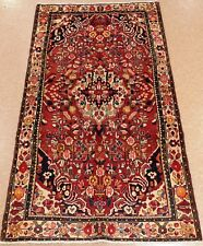 PERSIAN HAMEDAN Tribal Hand Knotted Wool RUST NAVY Nomadic Oriental Rug 5 x 8