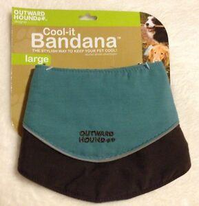 Cool-it Dog Bandana - Soak/Refrigerate - Reflective - SMALL - Outward Hound -NWT