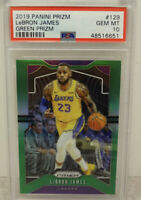 PSA 10 2019 LeBron James Panini GREEN Prizm #129 LA Lakers Gem Mint!