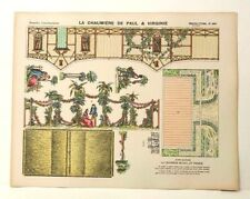 Pellerin Imagerie D'Epinal-No 340 Les Chaumiere Paul Virgini Grande paper model