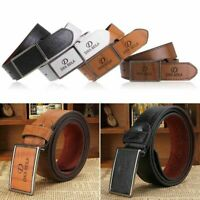 Men's Leather Waistband Automatic Buckle Belt Waist Strap Casual Belts Gift gh
