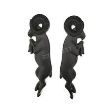 Pair Ram 1500 2500 3500 Black 3D Leaping Rams Big Horn Body Emblem Badge Sticker