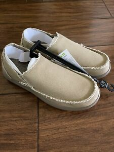Crocs Mens Size US 9 M 10128-261 Santa Cruz Relaxed Khaki Loafers